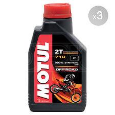 Motul 710 OFF ROAD 2T 2 Stroke 2T Engine Oil Anti-Smoke 3 x 1 Litres 3L