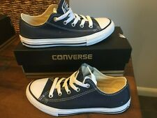 Kids Junior Converse All Star Chuck Taylor Canvas Trainers Blue UK Sz 13 NEW