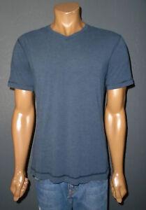 LULULEMON Athletic T-Shirt 5 YEAR BASIC Tee NAVY BLUE s/s V-Neck Mens MD