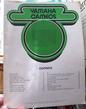 Yamaha Cameos music & 20 songs book 1973 Leonard Publishing corporation