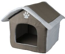 Large Grey dog cats Bed Foldable House comfortable padding RRP £39.99 Uk Seller