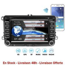 AUTORADIO VOLKSWAGEN 2 DIN GPS Bluetooth iPod DVD Golf 5/6 Passat Polo Eos