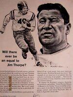 "1963 Jim Thorpe-EQUITABLE LIFE Original Print Ad 8.5 x 10.5"""