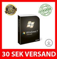 Microsoft Windows 7 Ultimate 32/64Bit LICENZ KEY VOLLVERSION