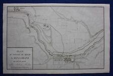 Original antique map ITALY, MONZAMBANO, RIVER MINCIO, Tardieu c.1824