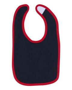 Infant Contrast Trim Bib Baby Bibs Boy Girl Burp Cloths Solid Gift 100% Cotton
