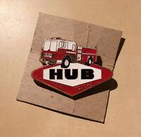 Hub Firetrucks Pin W. Firetruck on top of HUB Symbol - Enameled