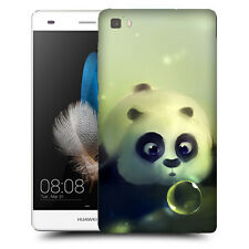 CUSTODIA COVER  per HUAWEI ASCEND  P8 LITE TPU BACK CASE PANDA IN ACQUA