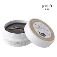 NEW PETITFEE Black Pearl & Gold Hydrogel Eye Patch 60 pieces