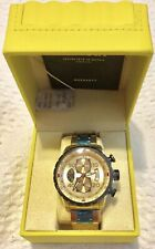 17205 Invicta 48MM Aviator Chronograph  Gold Tone Dial SS Band Watch