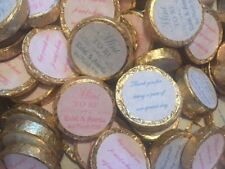 Personalised Wedding Chocolates in 'Mint to Be' theme (set of 50)
