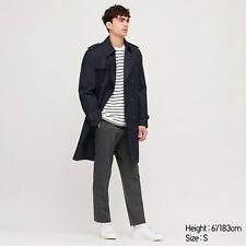 New Uniqlo Navy Trench Coat Overcoat Size Extra Small XS Men