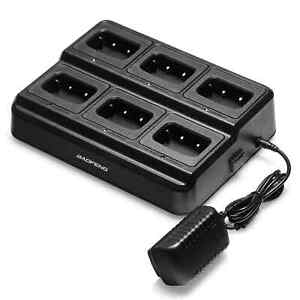Six-Way Charger for Baofeng 888S T99Plus H777 - 6 Batteries /Radios same time