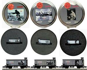 MARKLIN Z SCALE M/M 1511-1512-1513 Brinkhoff  3 COLLECTOR Cars Round Tin Boxs C9