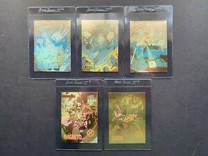 Marvel X-Men Series 1 1992 Impel Complete Set Of 5 Hologram Cards XH1-XH5 NM/MT
