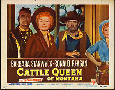 CATTLE QUEEN OF MONTANA original 1954 lobby card movie poster BARBARA STANWYCK