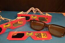 Lot of 4  older 3 D GLASSES   movie television TV Memorabilia   VG+