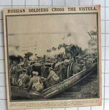 1915 Russian Soldiers Crossed The Vistula With Field Kitchens