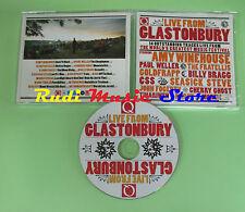 CD Q MAGAZINE LIVE GLASTONBURY compilation PROMO 2008 WINEHOUSE WELLER (C21)