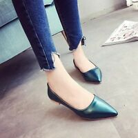 New Fashion Womens Casua Ballet Flats Pointed Toe Slip On Work Loafer Boat Shoes