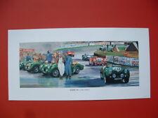 Triumph TR2 1955 Le Mans race scenes TR British sports car ltd ed print