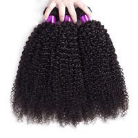 Brazilian Hair Kinky Curly Black Wef Remy Human Hair Extensions 3Bundles/150g
