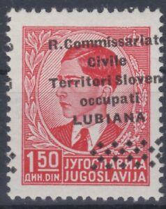 SELTEN Ital. Besatzung in Slowenien 1941 Stark versch. Aufdruck ATTEST