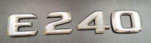 MERCEDES E 240 letter number badge logo emblem (D42)