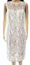 Maggy London NEW White Ivory Black Women's Size 14 Lace Sheath Dress $138 #849