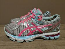 Asics Gt 1000 T4K8N Womens Size 8 Running Tennis Shoes Pink/Silver Sneakers