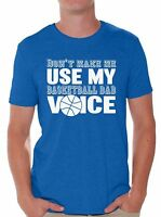 Basketball Dad Voice Father's Day T shirt Tops Basketball Dad Cool Gift