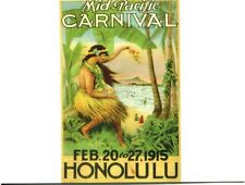 POSTCARD OF VINTAGE POSTER FOR MID-PACIFIC CARNIVAL FEB 10 TO 27, 1915