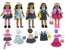 Lots 5 Sets Fashion Doll Clothes+4 hats+4 bags+tights for 18 inch Doll Clothes