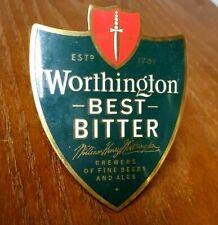 Worthington Best Bitter Brass beer tap handle badge William Henry  Worthington