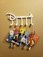 Disney Key Wall Mount Display 5-Hook High Detail 3D Print Custom - White