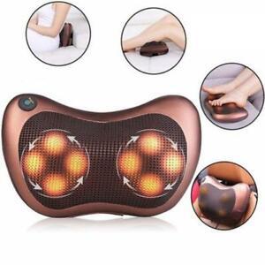 Shiatsu Heat Massage Pillow Deep Kneading Massager Relax Neck Back Shoulder Pain