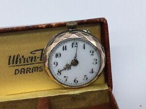 Jugendstil Damentaschenuhr 1910, 800er Silber