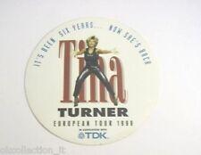 ADESIVO anni '90 vintage / Old Sticker TINA TURNER european tour 1996 (cm 10)