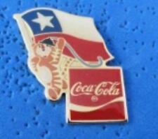 1988 Coca Cola Ltd Edition Flag Pin - CHILE
