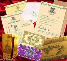 LETTERA D'ACCETTAZIONE HOGWARTS Harry Potter Pi? Tanti Oggetti in Omaggio