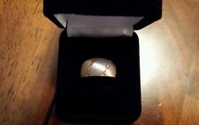 14 KARAT GOLD WOMEN'S TWO TONE DOME BAND RING ~ Size 7 ~ $660 BEAUTIFUL GIFT!