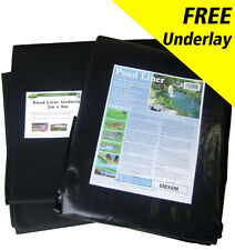 Pond Liner Special Offer 40yr Life with FREE Underlay & FREE Delivery.