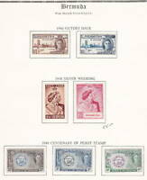 Bermuda, KGVI stamps on album pages, Lot 4853