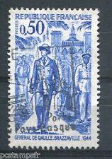 FRANCE 1971 timbre 1696, GENERAL DE GAULLE, oblitéré
