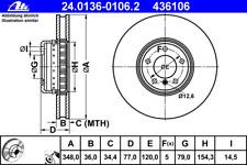 Bremsscheibe (2 Stück) - ATE 24.0136-0106.2