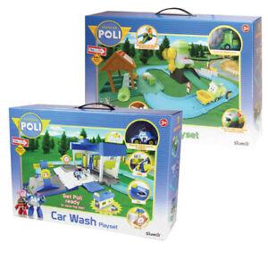 Pista Robocar Poli Autolavaggio e Riciclaggio - Car Wash Recycle Playset