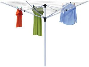 NEW HONEY-CAN-DO DRY-05262 UMBRELLA CLOTHESLINE CLOTHES DRYER LARGE 165 FEET