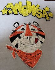"Sequin Patch: Tiger ""Wowsa"""