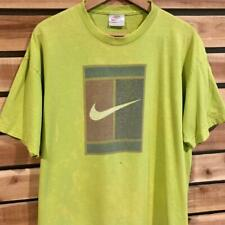 Rare Vtg 90s Usa Made Neon Green Nike Challenge Court Tennis T Shirt L