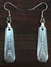 Antique Vintage Spoon Oneida Community Milady Earring Silverware Plate Jewelry